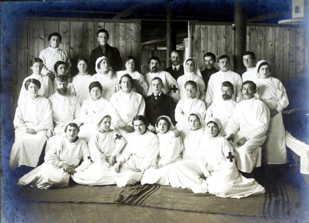 1915 год. Медицинский персонал лазарет № 11.