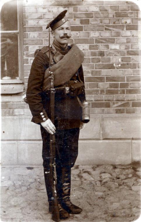 1915 год. Участник Первой мировой войны. Семёновский полк.