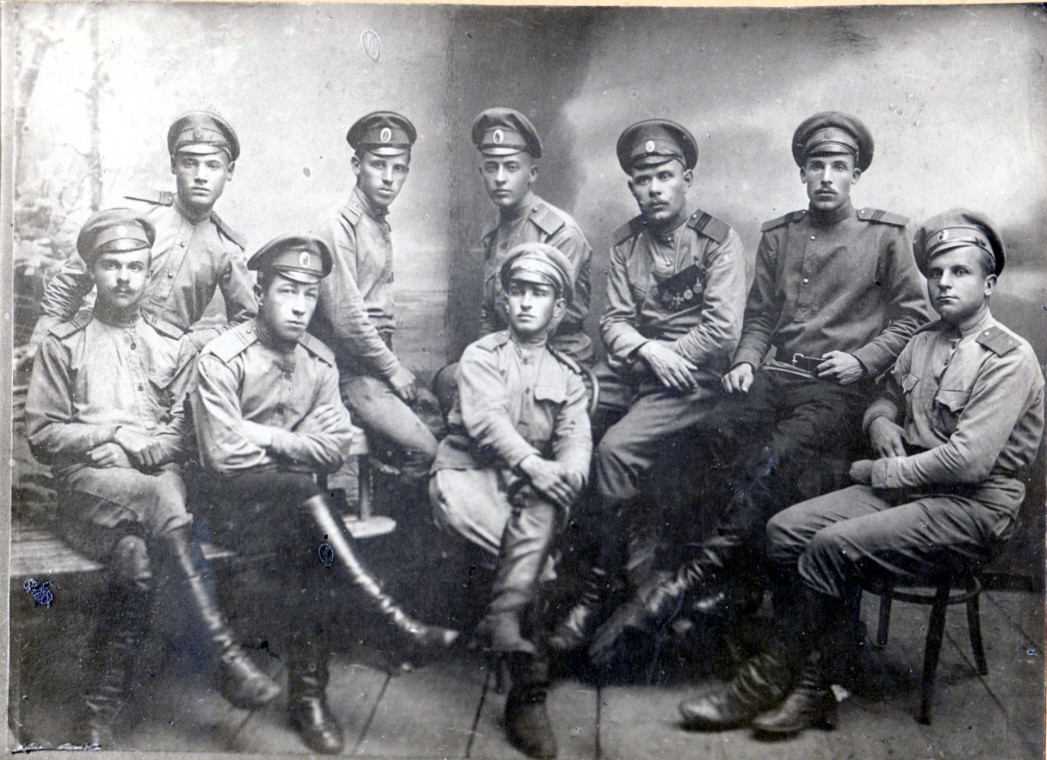 1915 год. Группа военнослужащих.
